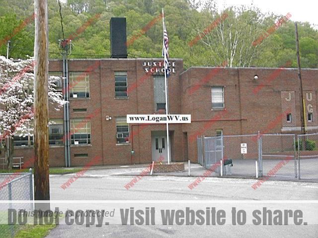 Photo of the Justice Grade School, Logan County, West Virginia