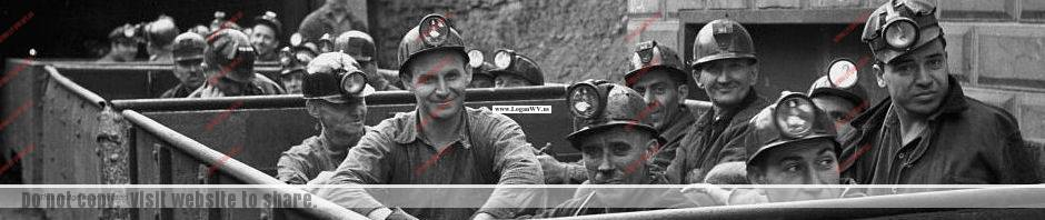 Coal Miners entering the mine photo.