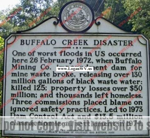 Buffalo Creek Disaster Historical Highway Marker