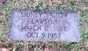 headstone of Dr. Lawson
