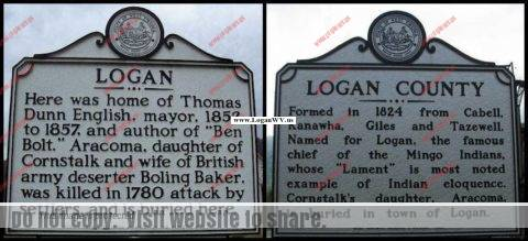 Logan County Historical Markers