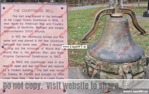 Logan County History - The old Courthouse Bell