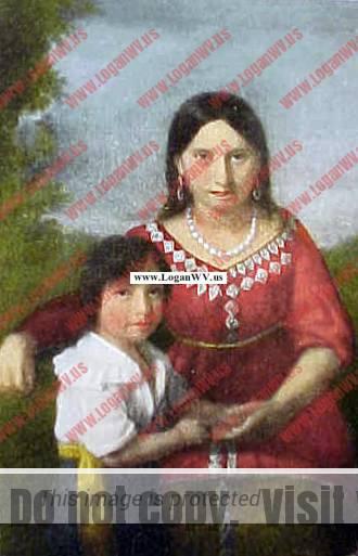 Pocahontas with son Thomas Bolling