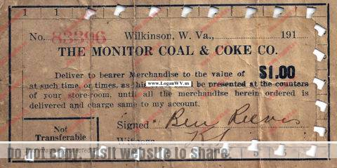 Monitor Coal & Coke Company Script