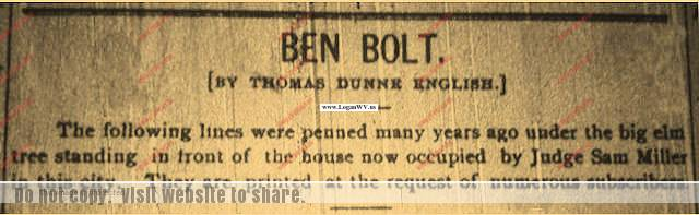 Ben Bolt Logan Banner 1903 newspaper clipping