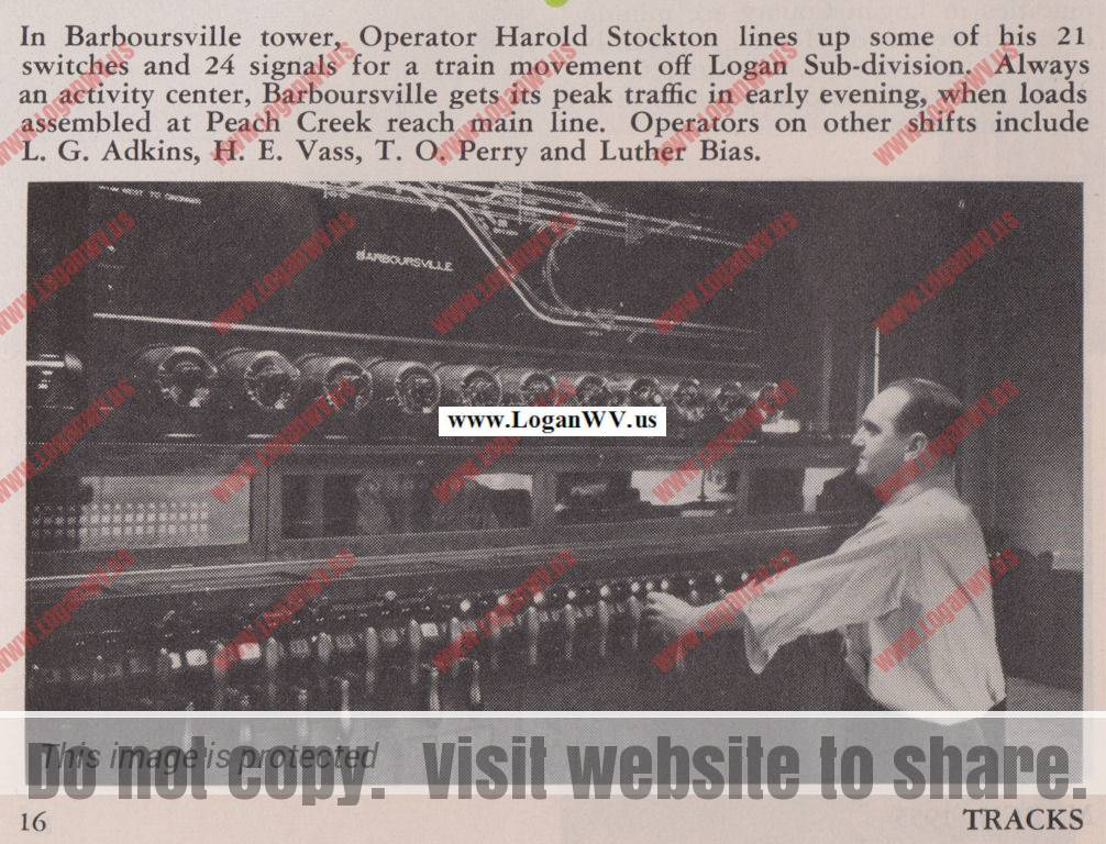 Harold Stockton, March 1955, Tracks Magazine, Page 16