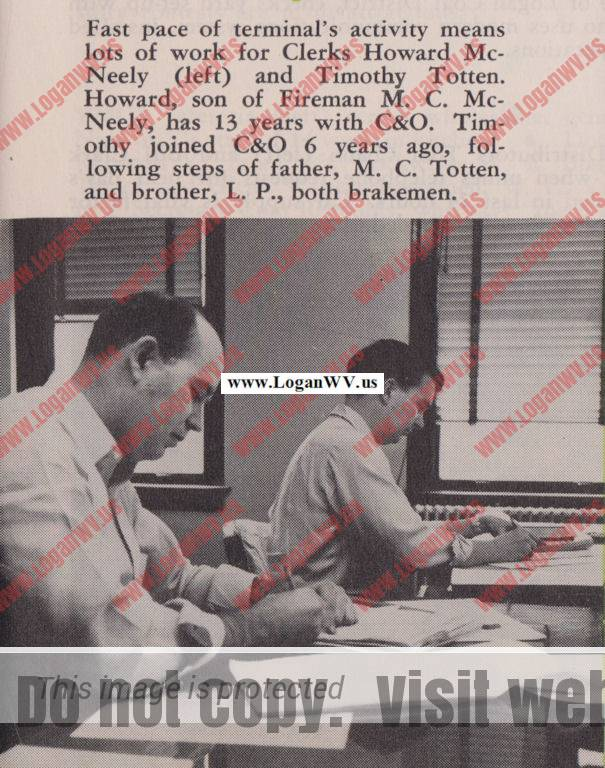 Howard McNeely and Timothy Totten, March 1955, Tracks Maazine, Page 11