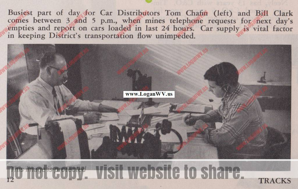 Tom Chafin and Bill Clark, Peach Creek, WV March 1955, Tracks Magazine, Page 12