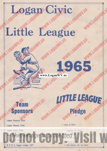 1965 Logan Civic Little League Booklet
