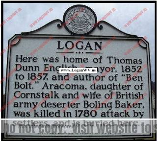 Logan Historic Marker