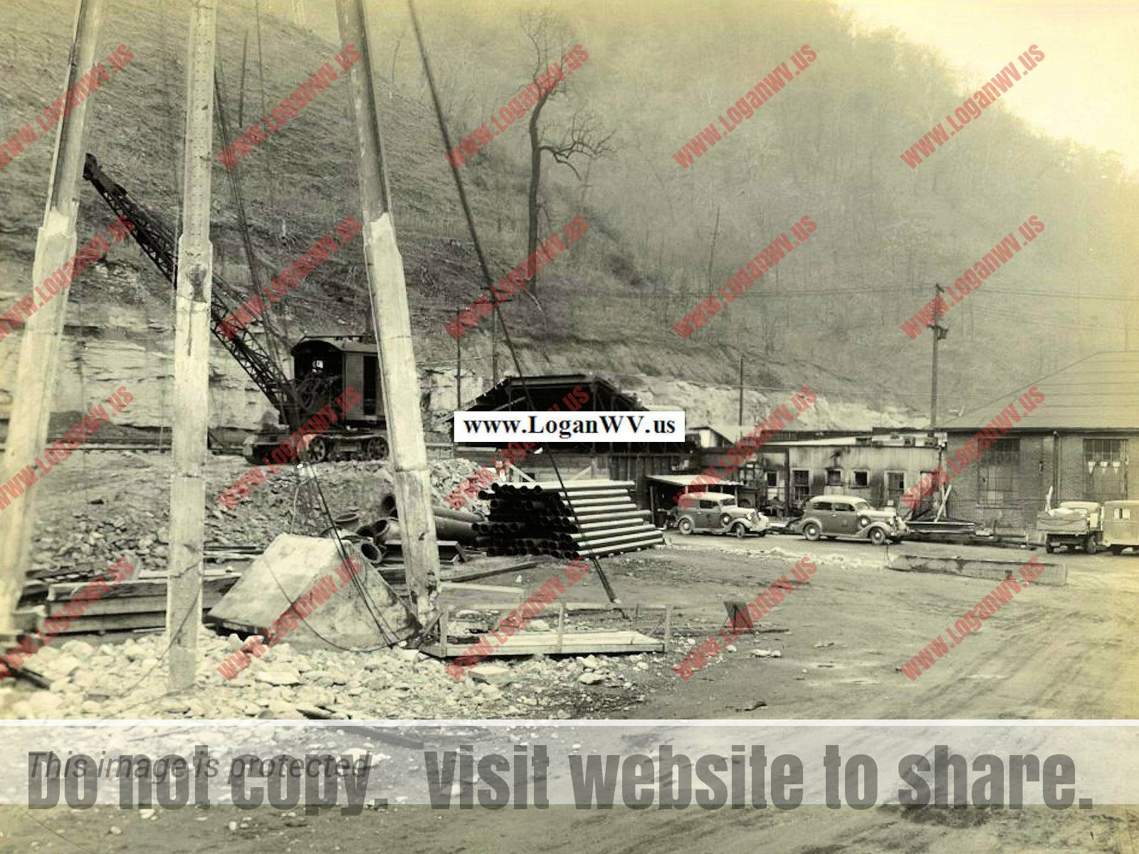 1930s behind the Power Plant, Logan, WV