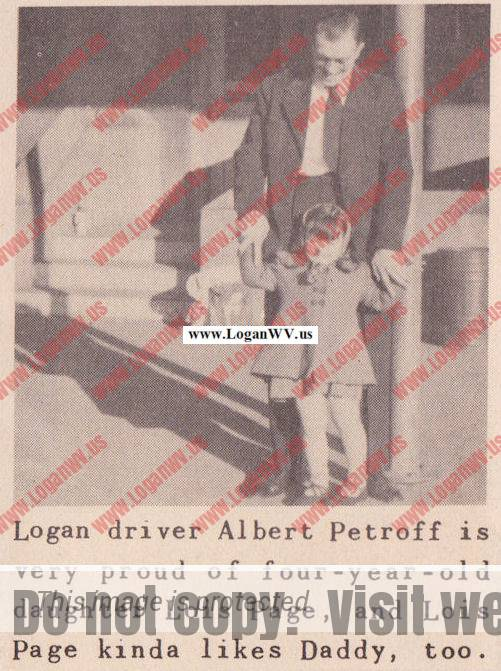 1951, Albert Petroff and daughter, Lois Paige Petroff