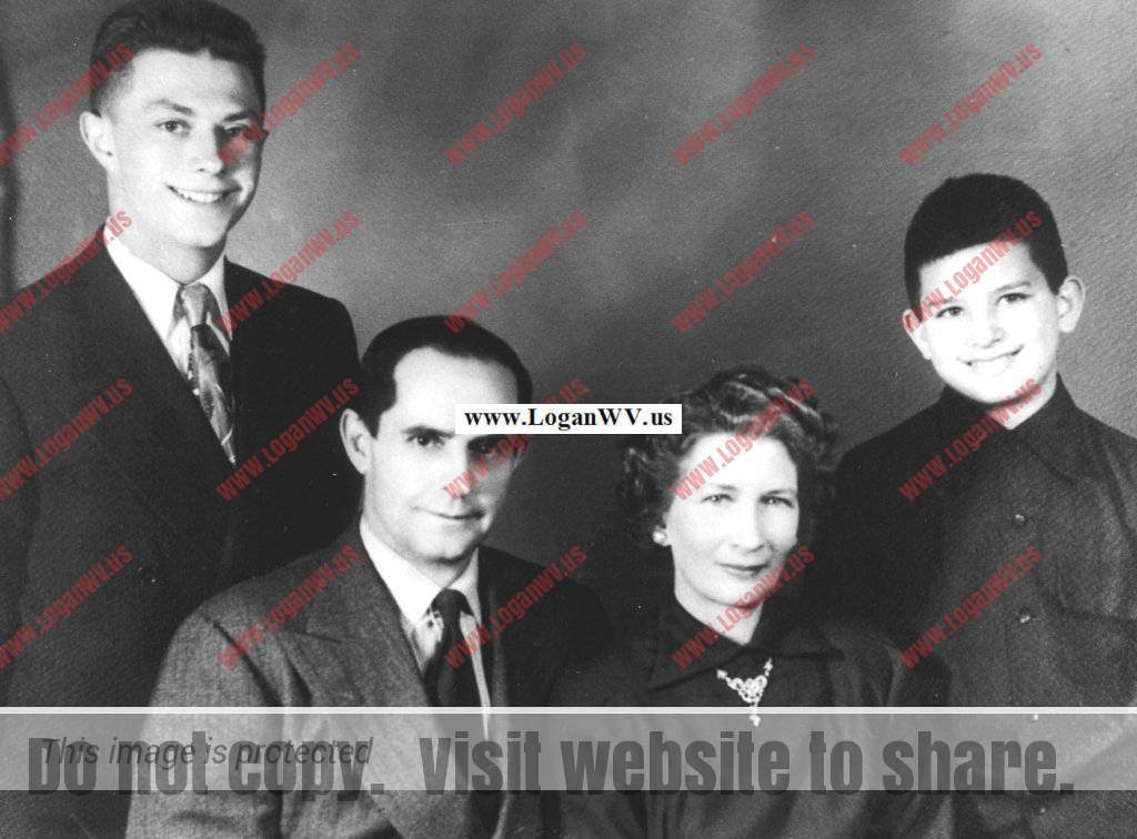 Clovis and Virginia McCormack Family of Cherry Tree, WV. Taken in 1951 before Ronald went into the Army.