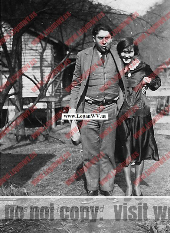 Edward Pierce Taylor and wife Ethel Taylor. Taken at Monitor, WV in 1927.