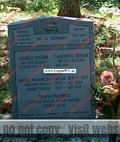 George Taylor and Catherine Taylor Family Cemetery on their old farm up Taylor Hollow at Willard, KY.