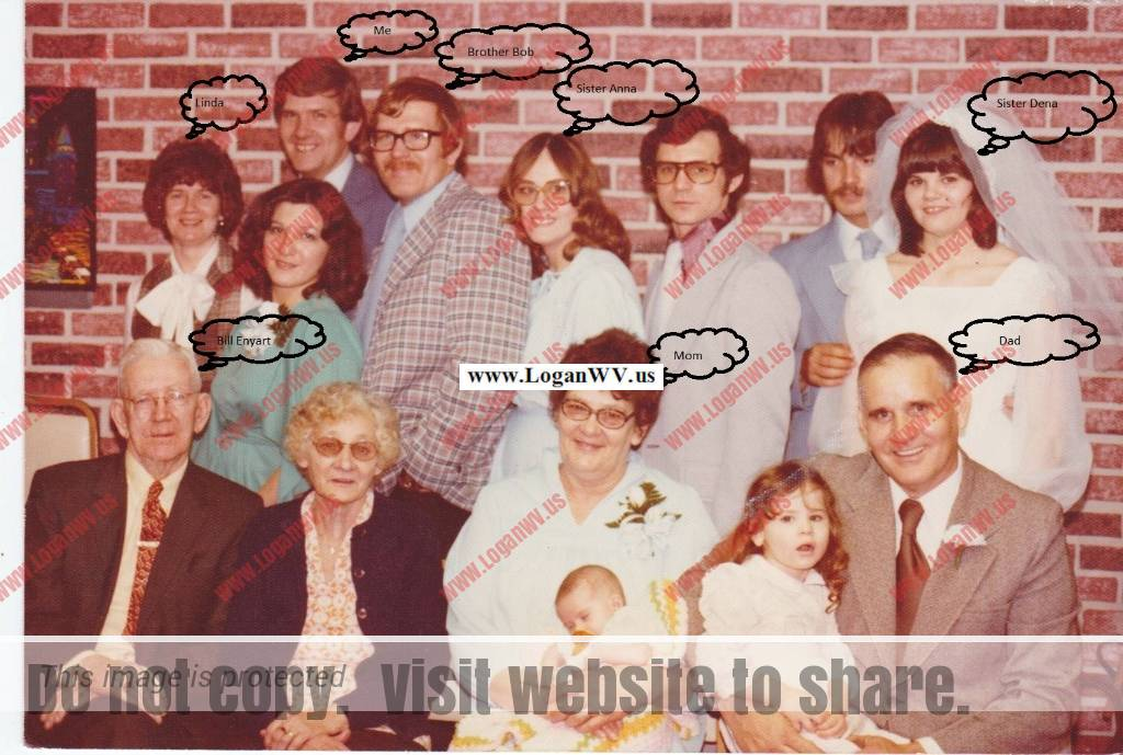 Lewis Nord Family at Daughters Wedding Back: Linda, Bill, Bob, Anne Front: Bill Enyant and wife, Mrs Nord, Lewis Nord