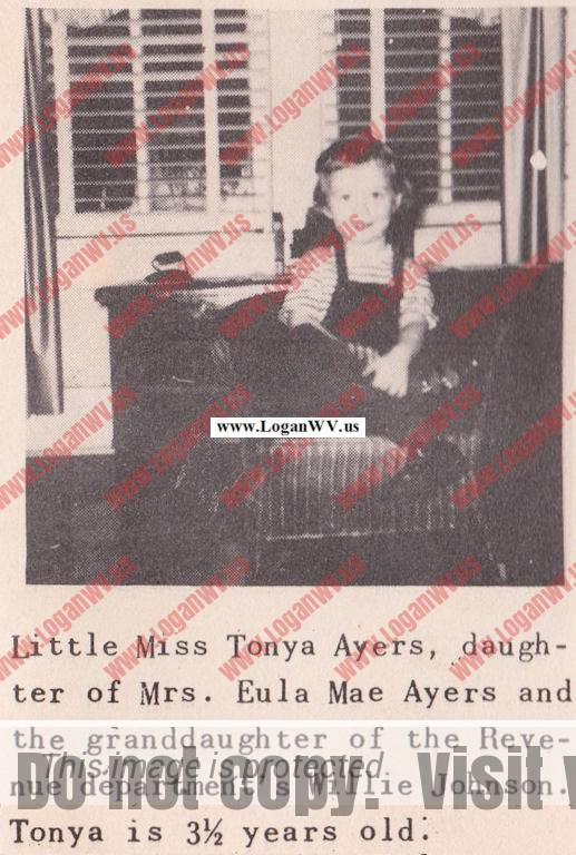 Tonya Avers from Page 24 of The Exhaust published Feb. 1951 by Consolidated Bus Lines.