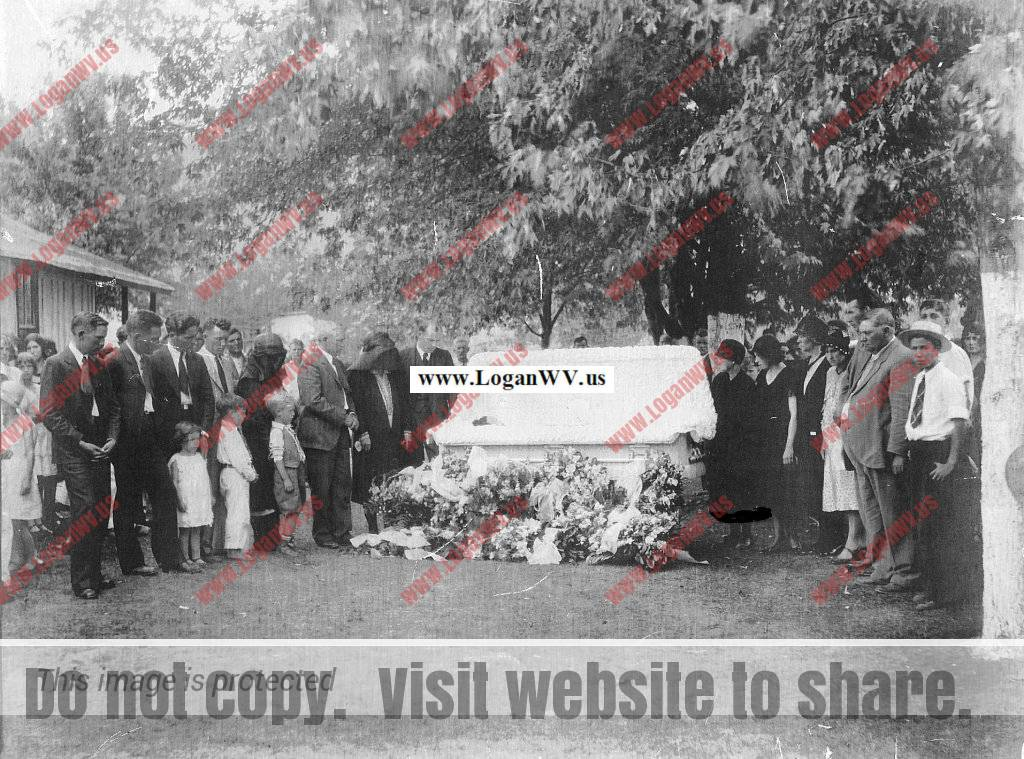 Norma Reeves Williams. Wife of Chester Bryan Willaims, mother of Christine Williams of Carter County, KY.  Picture is of her outdoor funeral in 1930.