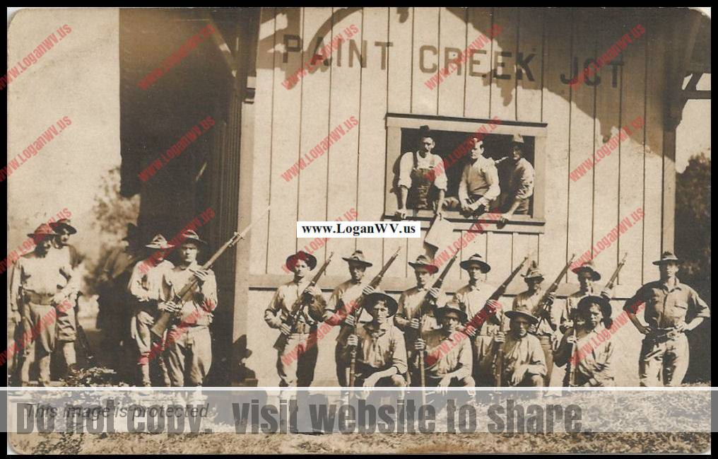 State Militia at Paint Creek Junction 1913