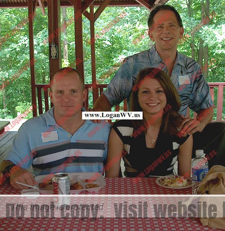 Robb McCormack, Olivia McCormack and Robert McCormack attending the Burk reunion at Armaco Park in Ashland, KY.