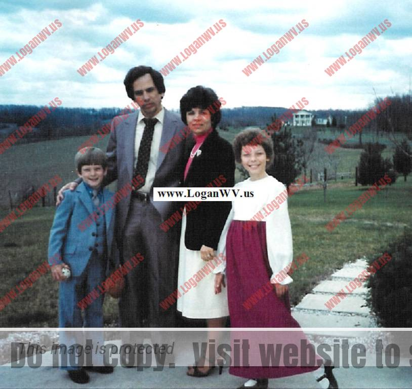 Robert McCormack Family taken in 1983.  Their home, Westwind Farm  at Mt. Airy, MD is in the background. Robb McCormack, Robert McCoramck, Esther McCoramck, Michelle McCormack