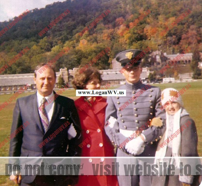 Woodrow Hubert McCormack Family of Ashland, KY with son Jeff and daughter Angie taken at West Point Military Academy.
