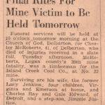 Chester McRoberts, 1944 39th Mine Fatality