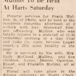 Frank Mullins, 1944 37th Mine Fatality