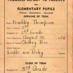 1954-55 Cherry Tree School Report Card