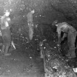 George Thompson working in the Mount Gay Coal Mine.
