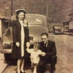 Katherine and Debriel Berry with daughter, Brenda. 1943 Monaville, WV