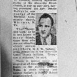 Pastor, Carl W. Vallance, Monaville, WV