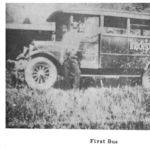 Triadelphia District School Bus from the Man High School Yearbook courtesy of Paula Solar.