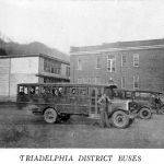 Triadelphia District School Buses from the 1928 Triadelphia District School Buses from the 1928 Man High School Yearbook. Courtesy of Paula Solar.