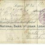 1917 First National Bank promissory note