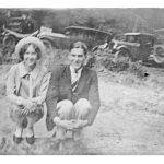 Unidentified lady with Everett or George Steele, Monaville, WV