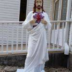 Jesus Statue in from of the Freewill Baptist Church at Lundale