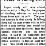 Logan County Court House is Falling Down - Bluefield Daily Telegraph March 26, 1905