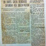 Mountaineer Missionary Baptist Church newspaper clipping
