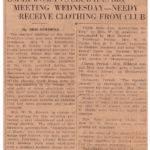 Omar Woman's Club Meeting, Feb. 27, 1931