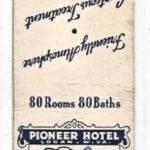 Pioneer Hotel Matchbook