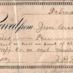 1888 Receipt signed by J.B. Wilkinson