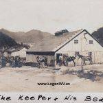 Very rare photo of  the Gay Coal Mine Barn and the mules used to work the mine.