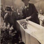 Grave-side service for Harve Adams April 9, 1940