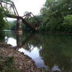 Henlawson RR Bridge being demolished