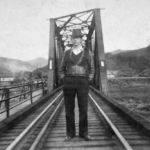 Willson Carter on Henlawson Train Bridge