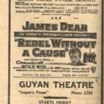 Logan, Guyan and Midleburg Theatres Ad March 20, 1956