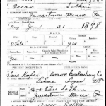 Oscar Salkin, WWI Draft Registration Card