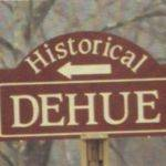 Historical Dehue Sign
