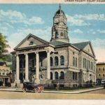 Old Logan County WV Court House Postcard